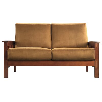 Winnifred Mission Loveseat with Cushions Upholstery: Rust