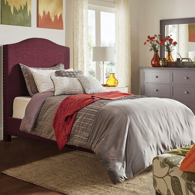 Winstead Twin Upholstered Panel Bed Finish: Tawny Port