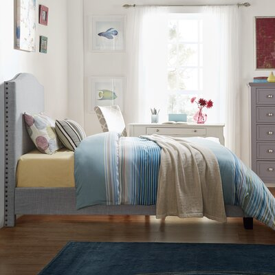 Winstead Twin Upholstered Panel Bed Upholstery: Blue Haze