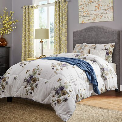 Winstead Twin Upholstered Panel Bed Upholstery: Gray
