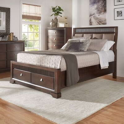 Akins Upholstered Platform Bed Size: King