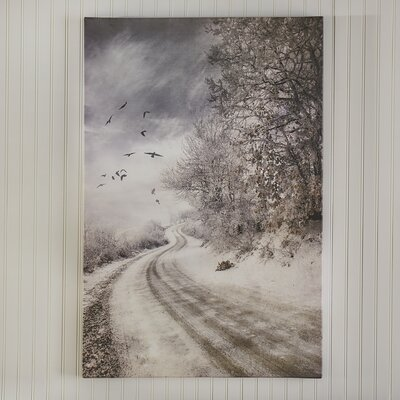 The Road To Cozia Photographic Print on Wrapped Canvas