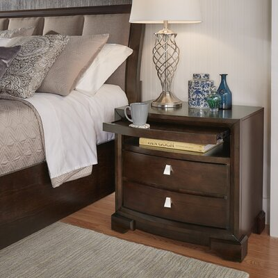 Akins 2 Drawers Nightstand