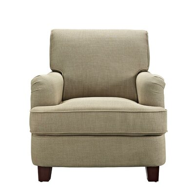 Robertsville Rolled Top Arm Chair Upholstery: Oatmeal