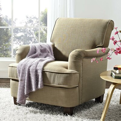 Robertsville Rolled Top Armchair Upholstery: Oatmeal
