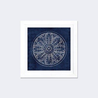 'Rosette VIII' Framed Graphic Art