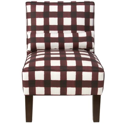 Thurston Slipper Chair Upholstery: Buffalo Square Holiday Red OGA
