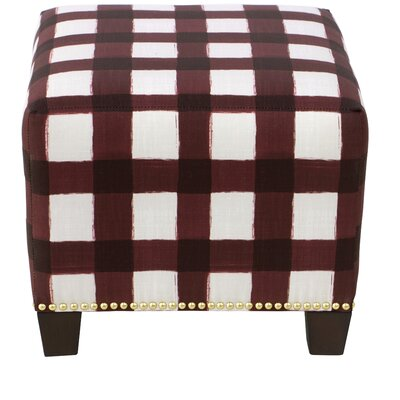Laurie Square Nail Button Ottoman