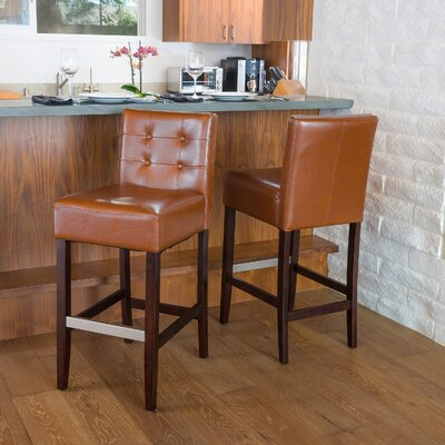 Robinwood 25.5 Bar Stool Upholstery: Hazelnut