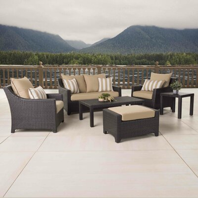 Northridge 6 Piece Deep Seating Group with Cushions Fabric: Maxim Beige