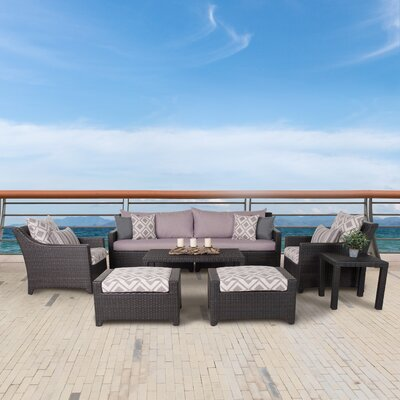 Northridge 8 Piece Deep Seating Group with Cushions Fabric: Wisteria Lavender