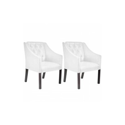 Chancey Arm Chair Color: White