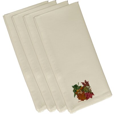 Autumn Leaves Flower Print Napkin Size: 19