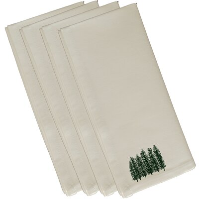 Through the Woods Flower Print Napkin Size: 19