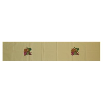 Autumn Leaves Floral Print Table Runner Size: 16