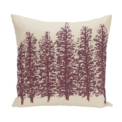 Through the Woods Flower Print Throw Pillow Color: Purple