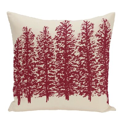 Through the Woods Flower Print Throw Pillow Color: Brown