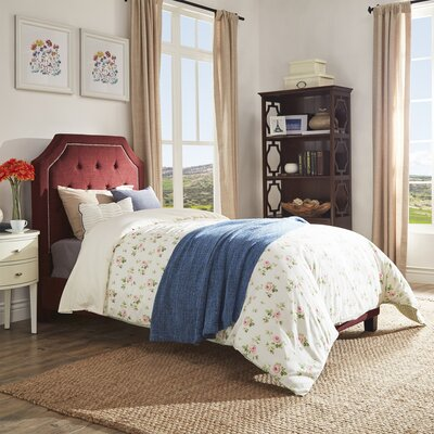 Abbey Twin Upholstered Panel Bed Finish: Tawny Port