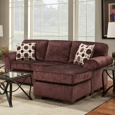 Radcliff Reversible Sectional Upholstery: Prism Elderberry