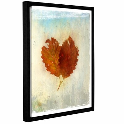 Leaf Iii Framed Painting Print on Wrapped Canvas