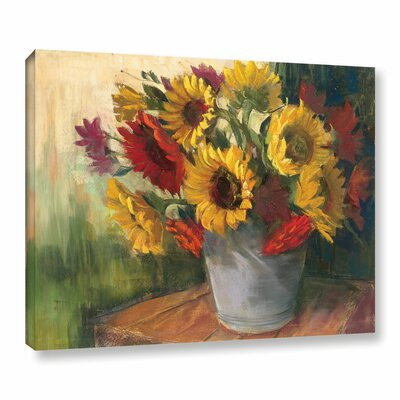 September Sunflowers Painting Print on Wrapped Canvas
