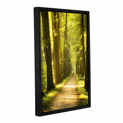 Forest Spreewald Framed Photographic Print on Wrapped Canvas