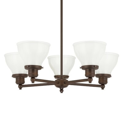 Chesterton 5-Light Shaded Chandelier Finish: Burnished Bronze