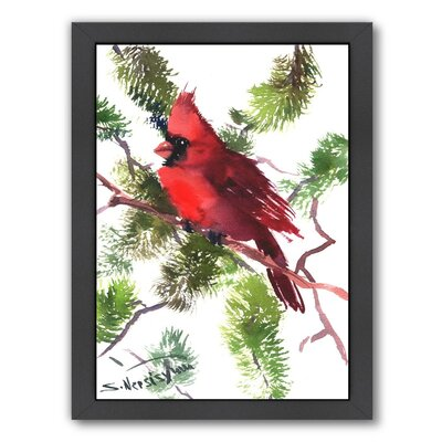 Cardinal Framed Painting Print Frame Color: Black
