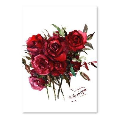 Deep Roses Painting Print
