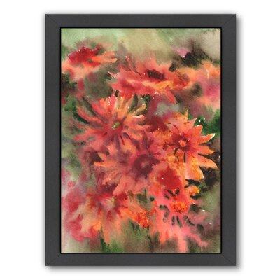 Blanket Flowers 3 Framed Painting Print Frame Color: Black