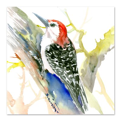 Red Bellied Woodpecker Square Original Painting