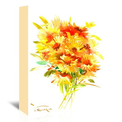Calendulas Painting on Wrapped Canvas Size: 14