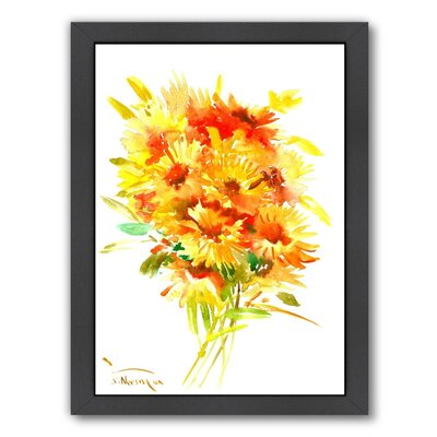 Calendulas Framed Original Painting