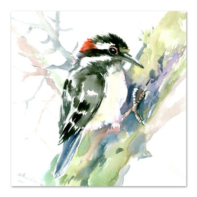 Woodpecker Square Original Painting
