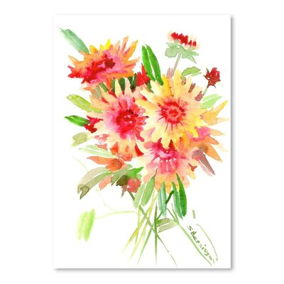Blanket Flowers Painting Print
