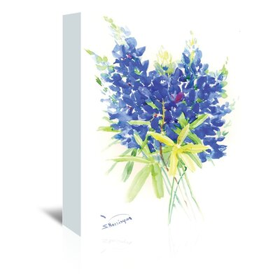 Bluebonnet Painting Print on Wrapped Canvas Size: 20