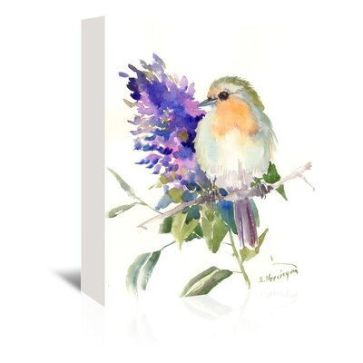 Robin Painting Print on Wrapped Canvas