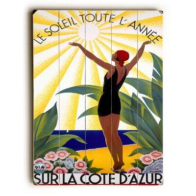 Cote D'Azur/Le Soleil Toute L'Annee Vintage Advertisement Size: 16