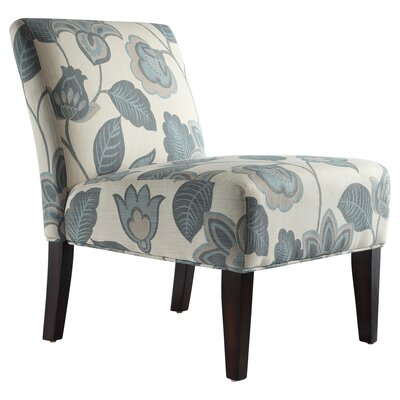 Coleshill Slipper Chair Upholstery: Blue Floral