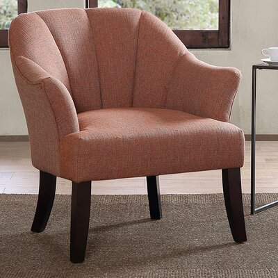 Curren Channel Back Barrel Chair Color: Orange