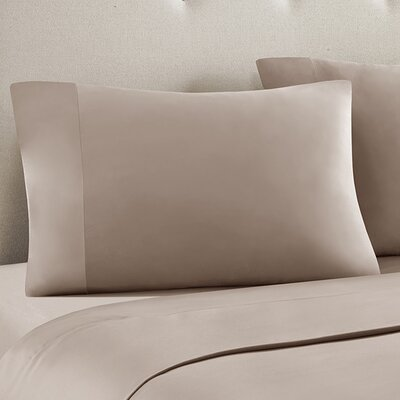 Ashbury Pillow Case Size: King, Color: Taupe