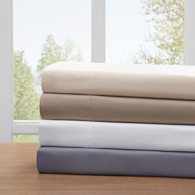 4 Piece Ashbury Cotton Blend Sheet Set Color: White, Size: Queen