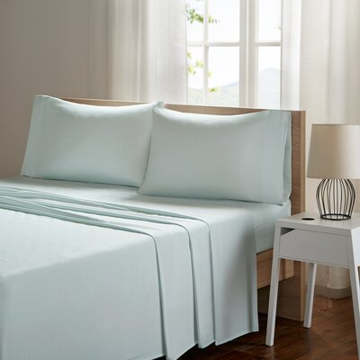 Ashbury Deep Pocket Sheet Set Size: Full, Color: Aqua
