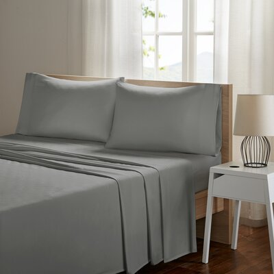 Ashbury Deep Pocket Sheet Set Size: King, Color: Gray