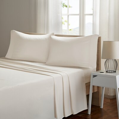Ashbury Deep Pocket Sheet Set Size: King, Color: Ivory