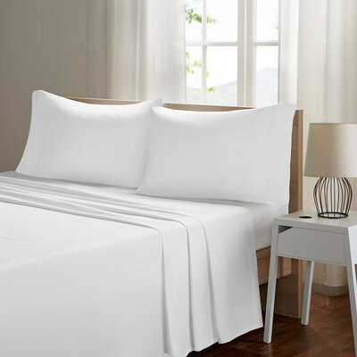 Ashbury Deep Pocket Sheet Set Size: King, Color: White