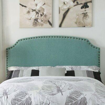 Coleshill Upholstered Panel Headboard Upholstery: Light Blue, Size: King