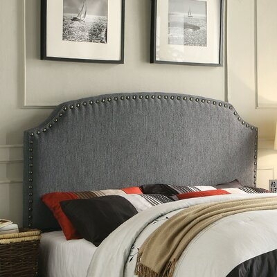 Coleshill Upholstered Panel Headboard Size: Full / Queen, Upholstery: Gray
