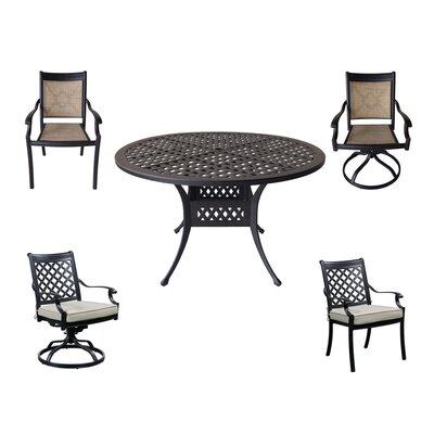 Glenfield 5 Piece Dining Set with Cushions