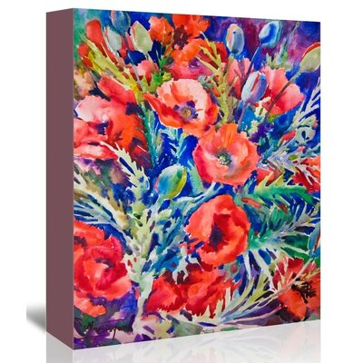 Poppies Painting Print on Gallery Wrapped Canvas